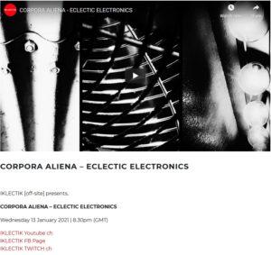 corpora aliena eclectic electronics iklectik jimmie peggie