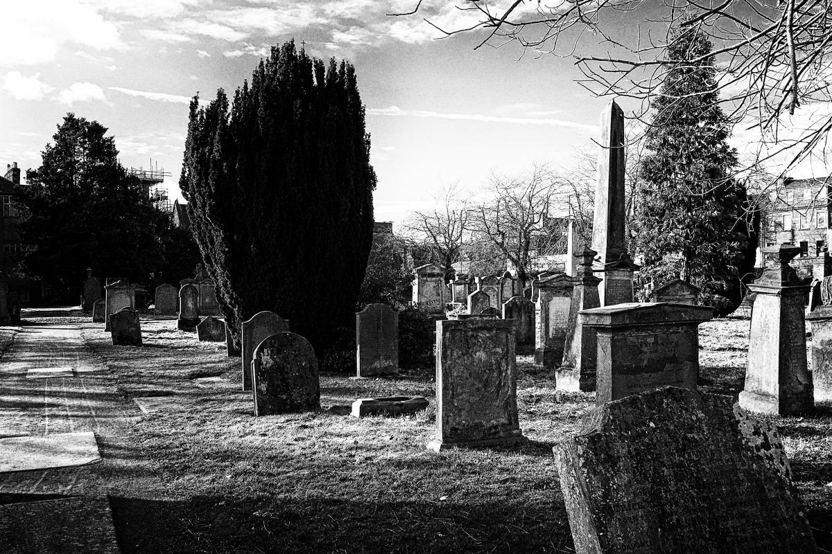 Greyfriars Burial Ground - Perth, Scotland.  Photo by Jimmy Peggie