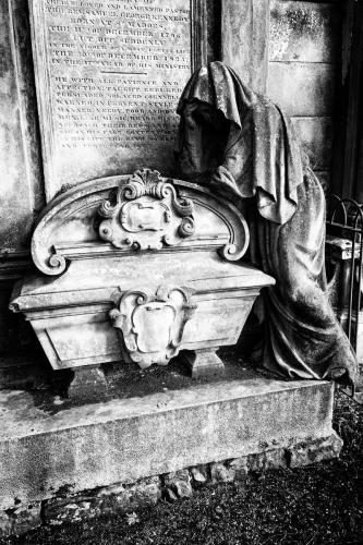 Greyfriars Burial Ground - Perth, Scotland.  Photo by Jimmy Peggie.  Weeping Lady